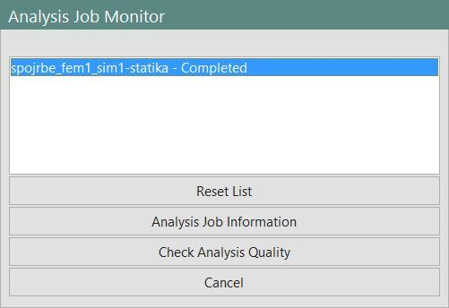 Analysis Job Monitor