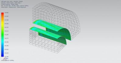 Zobrazení kontaktního tlaku při nalisování